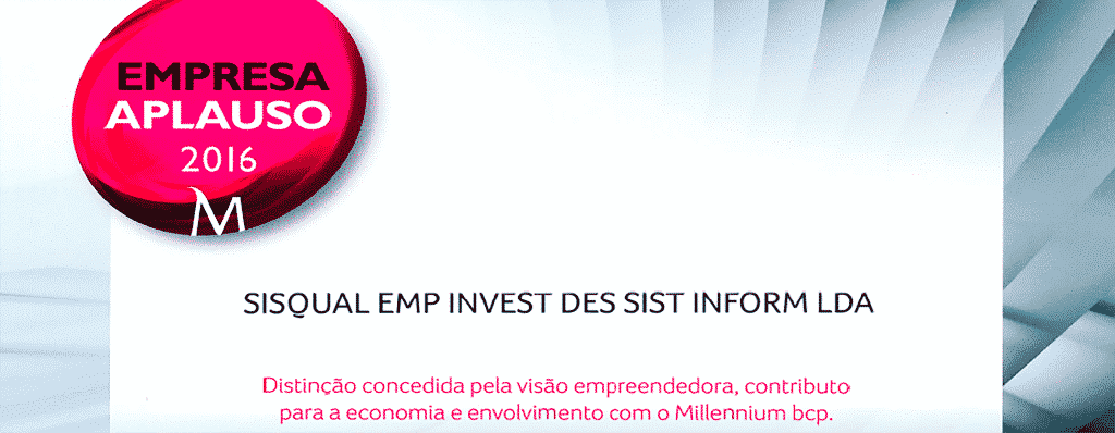 """SISQUAL Portugal distinguished by Millennium BCP with the status of an """"Aplause Company"""""""